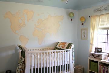 World Map Nursery Wall
