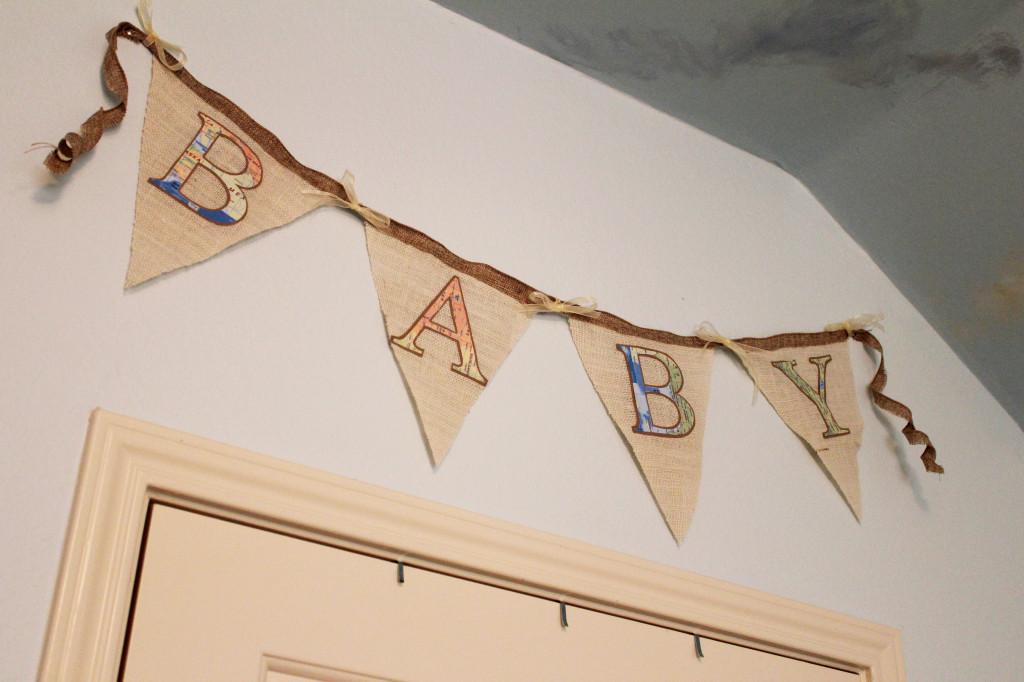 Burlap Baby Banner