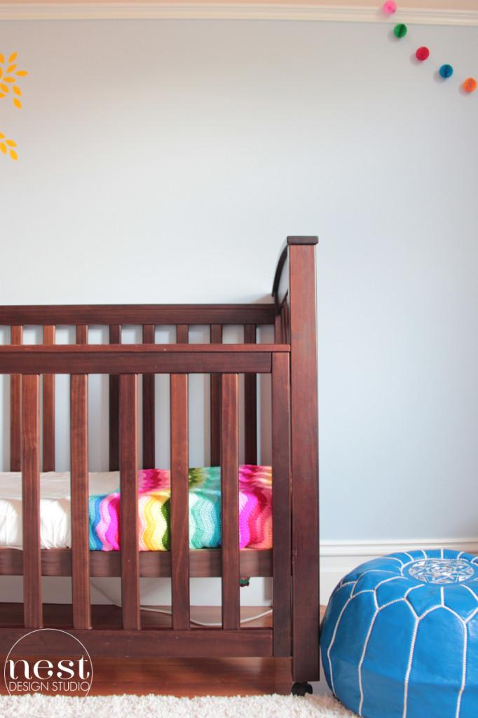 Dulux Angora Blue Nursery Wall