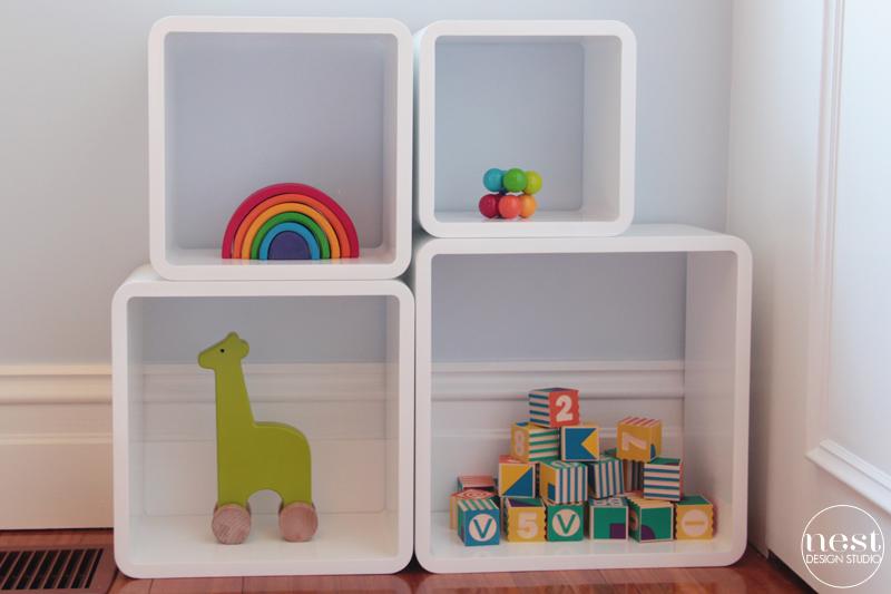 Modern White Storage Cubes
