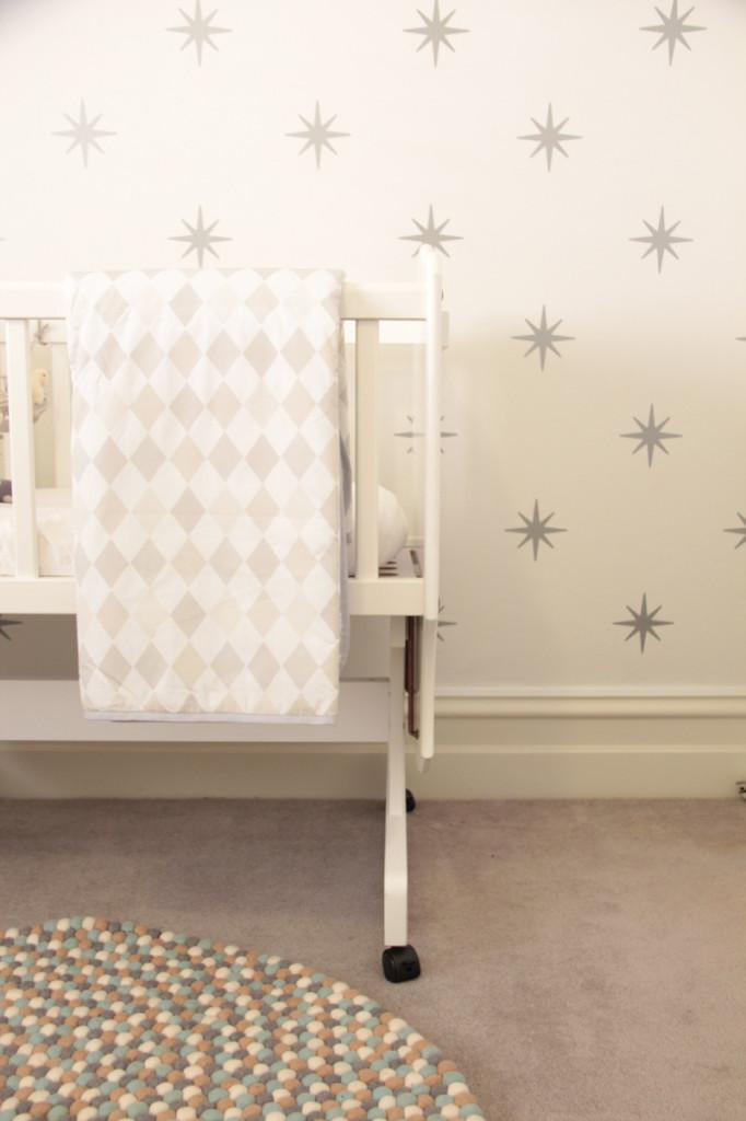 Gray and White Crib Bedding