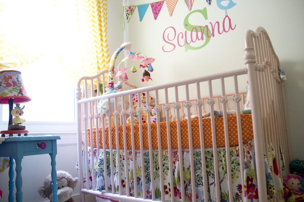 Pink Metal Baby Crib