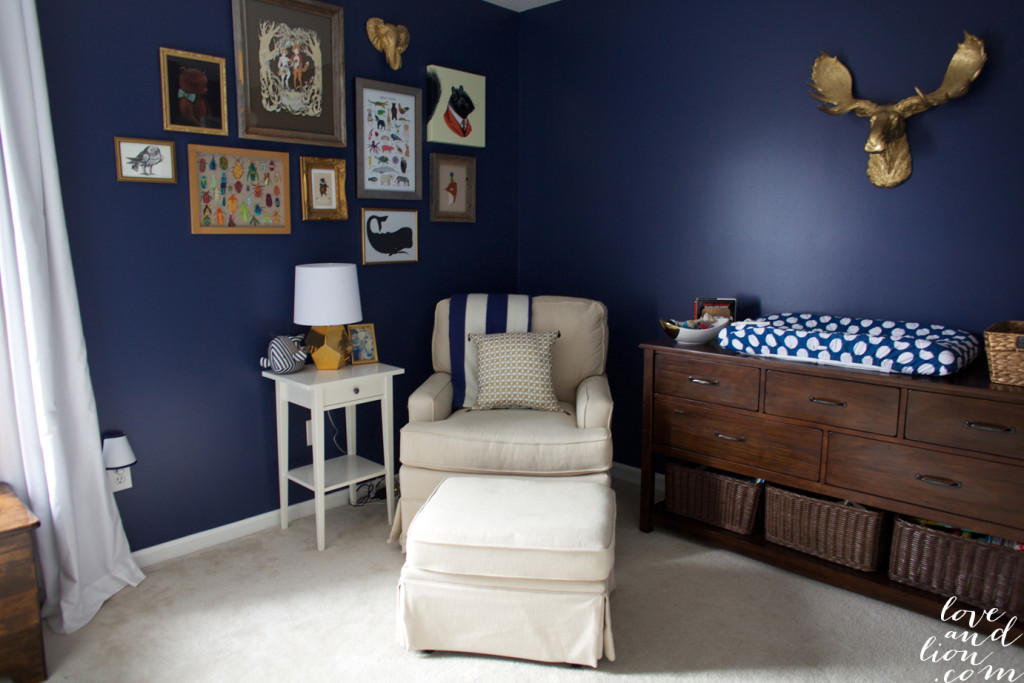 Max\'s Navy and Gold Nursery - Project Nursery