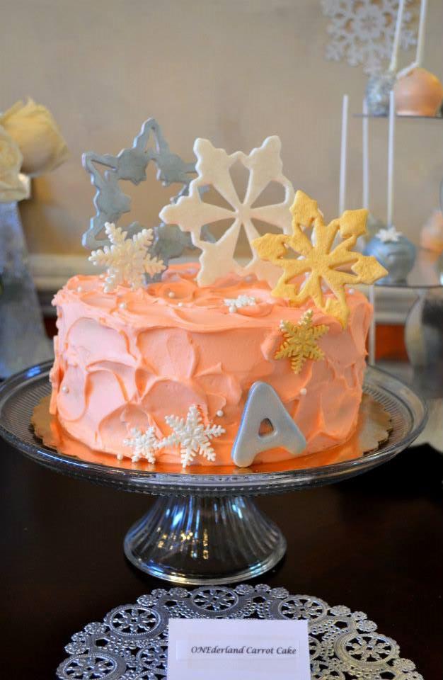 Winter ONEderland Carrot cake