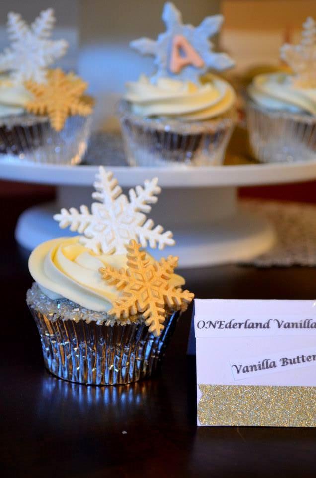 Winter ONEderland Cupcake