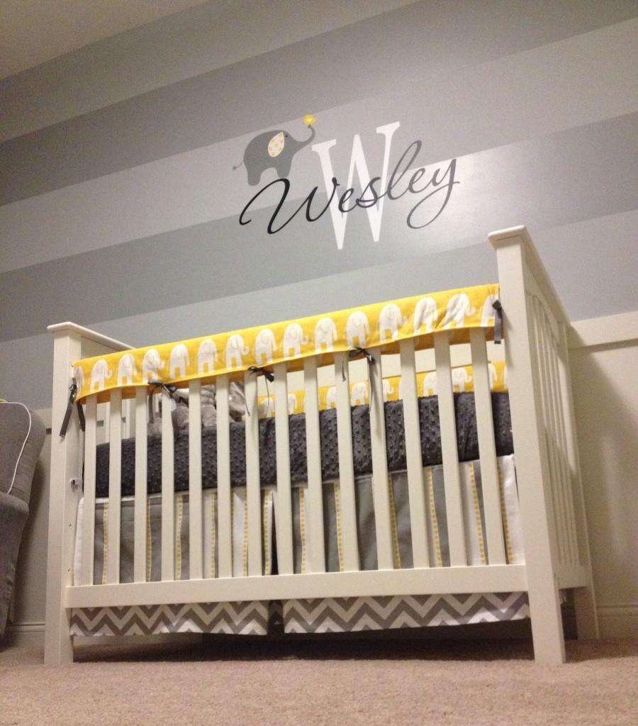 Wesley's Yellow and Gray Elephant Nursery - Project Nursery