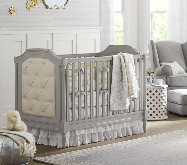 Blythe Crib and Lara Nursery Bedding from Pottery Barn Kids
