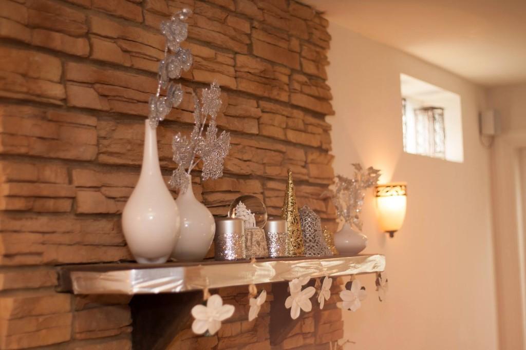 Winter ONEderland Fireplace Mantel Decor