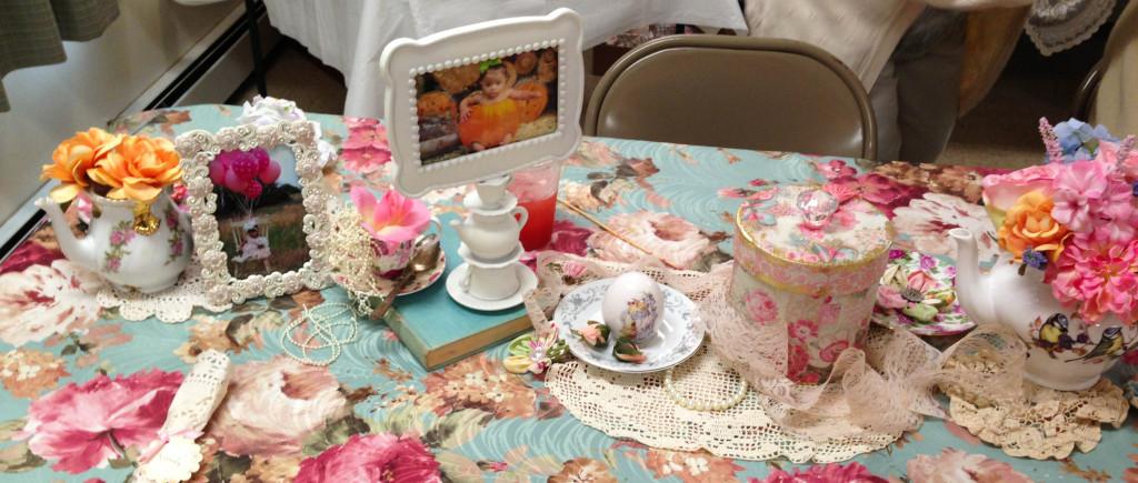Shabby Chic Tea Party Table Decor