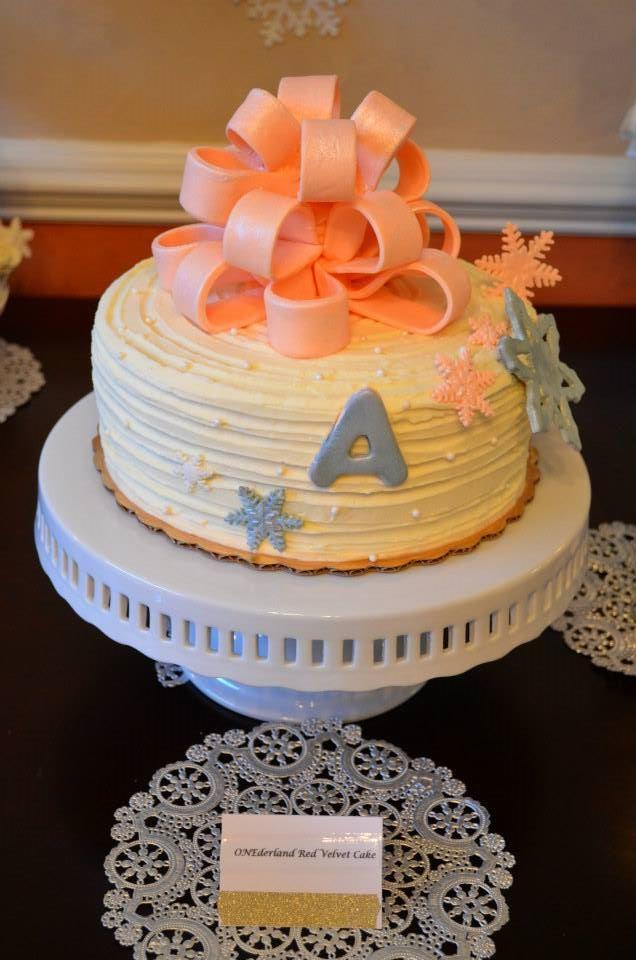 Red Velvet First Birthday Cake