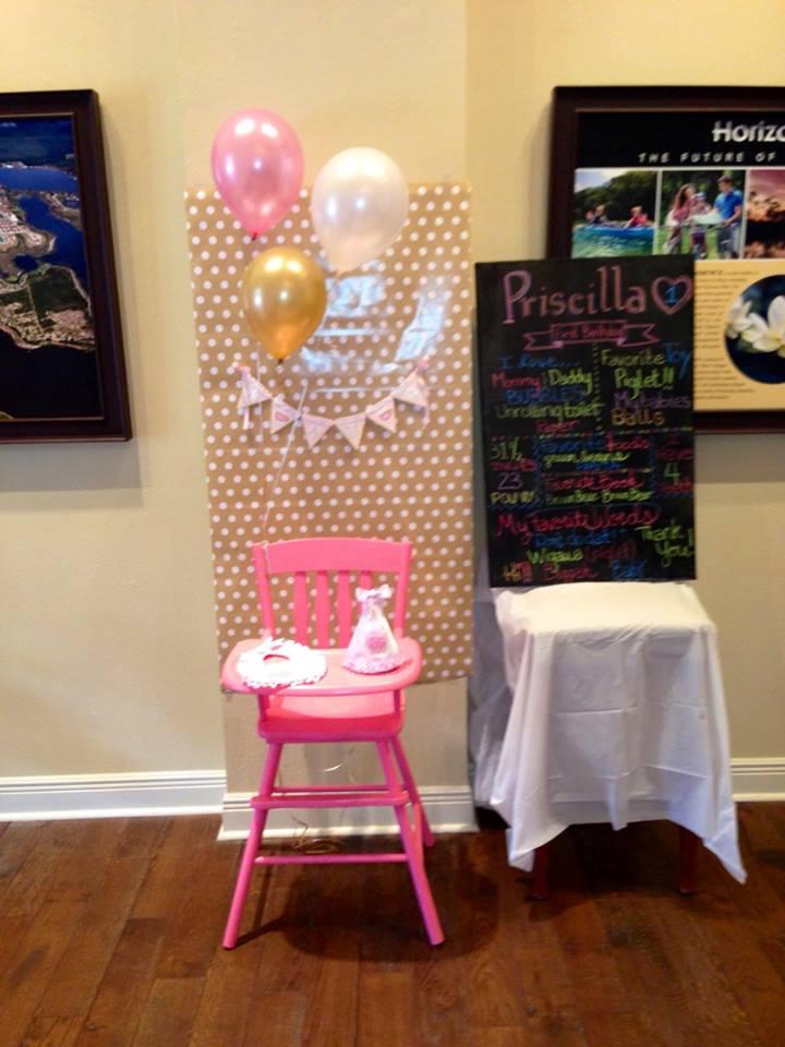 First Birthday Party Smash Cake Station
