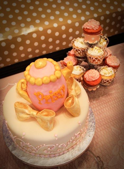 Fondant Teapot Cake Topper