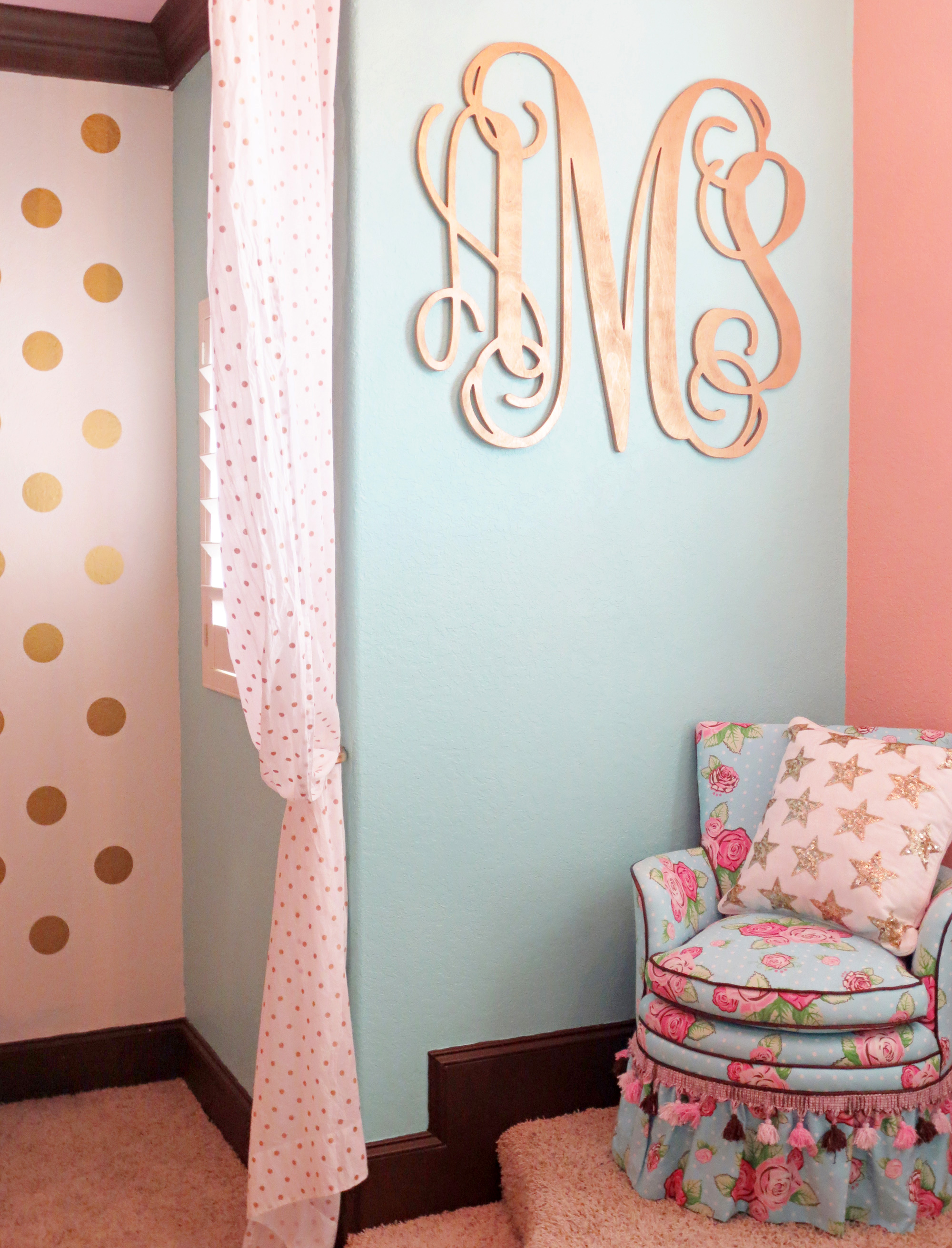 Oversized Gold Monogram - Project Nursery