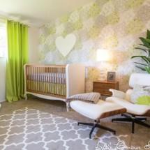 Modern Lime Green Nursery