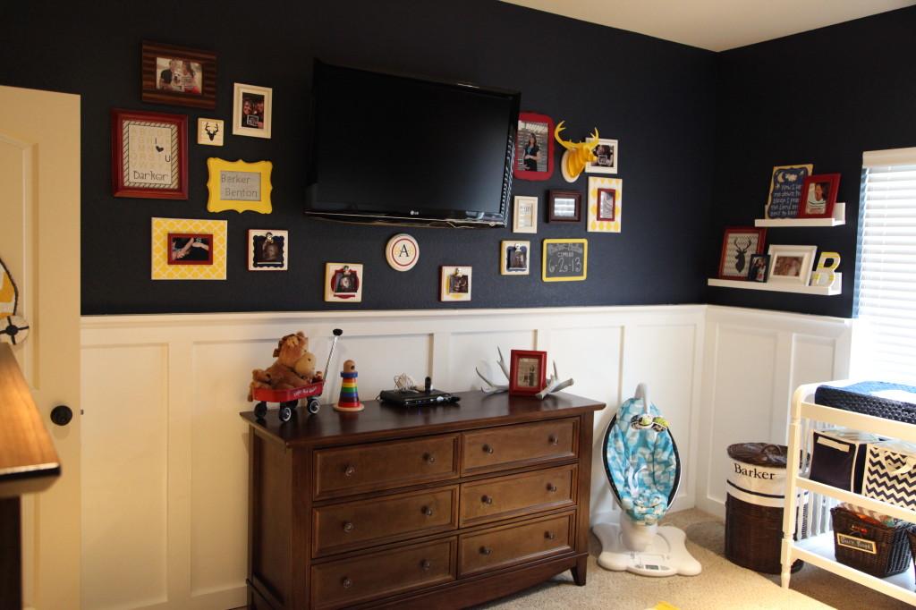 Nursery Gallery Wall Around TV