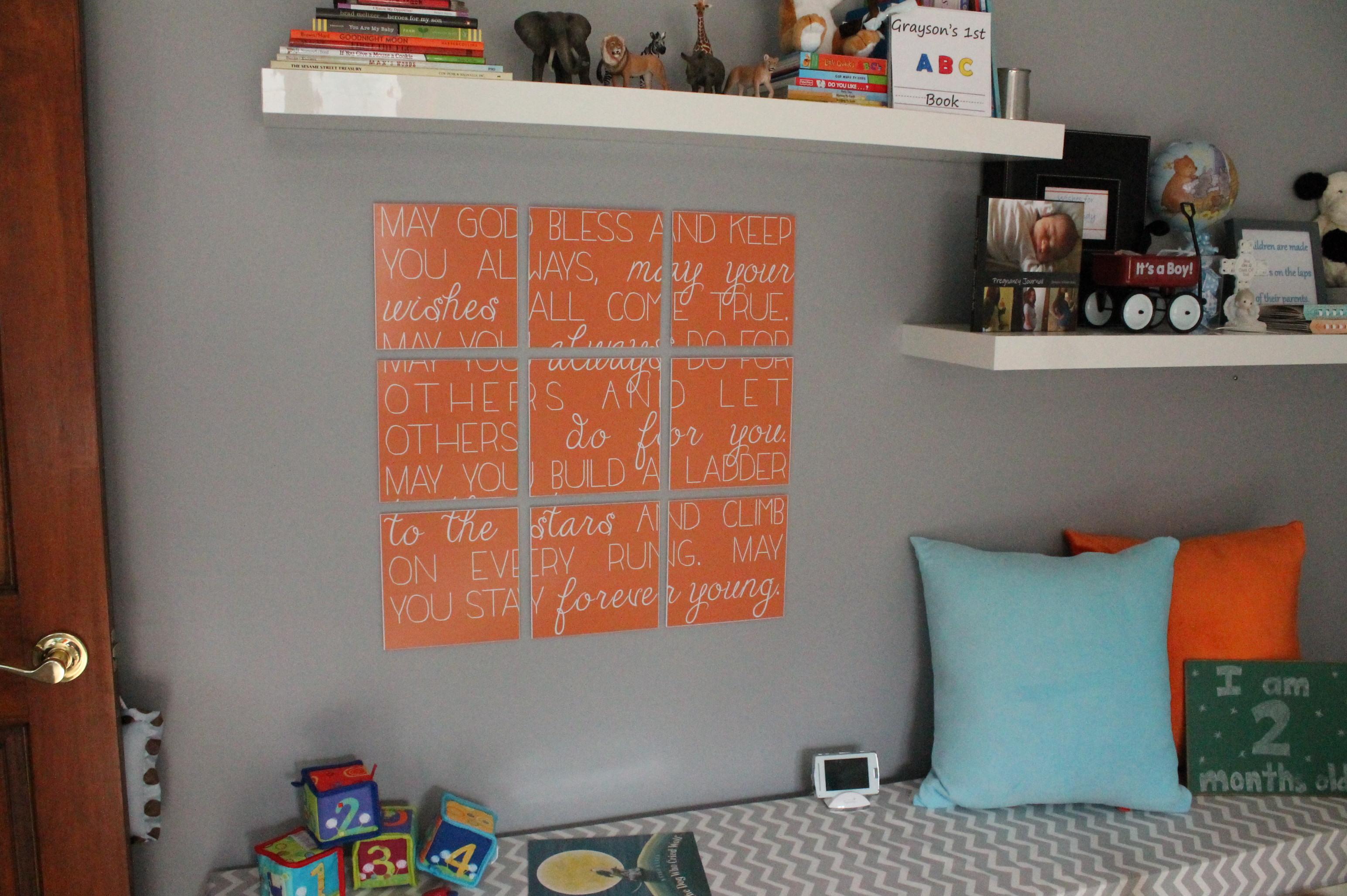 DIY Song Lyrics Wall Art for the Nursery!