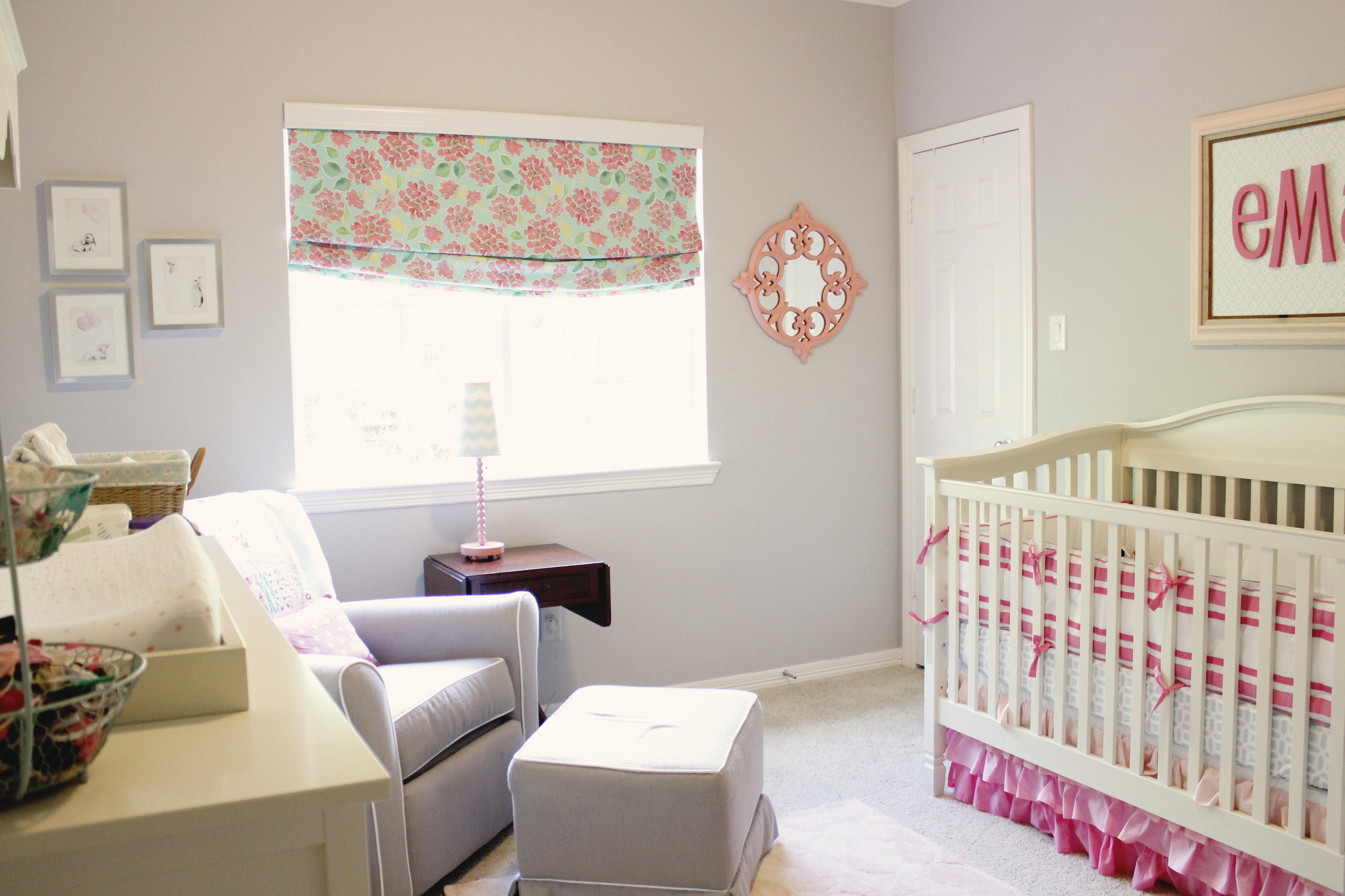 Pink and Aqua Baby Nursery