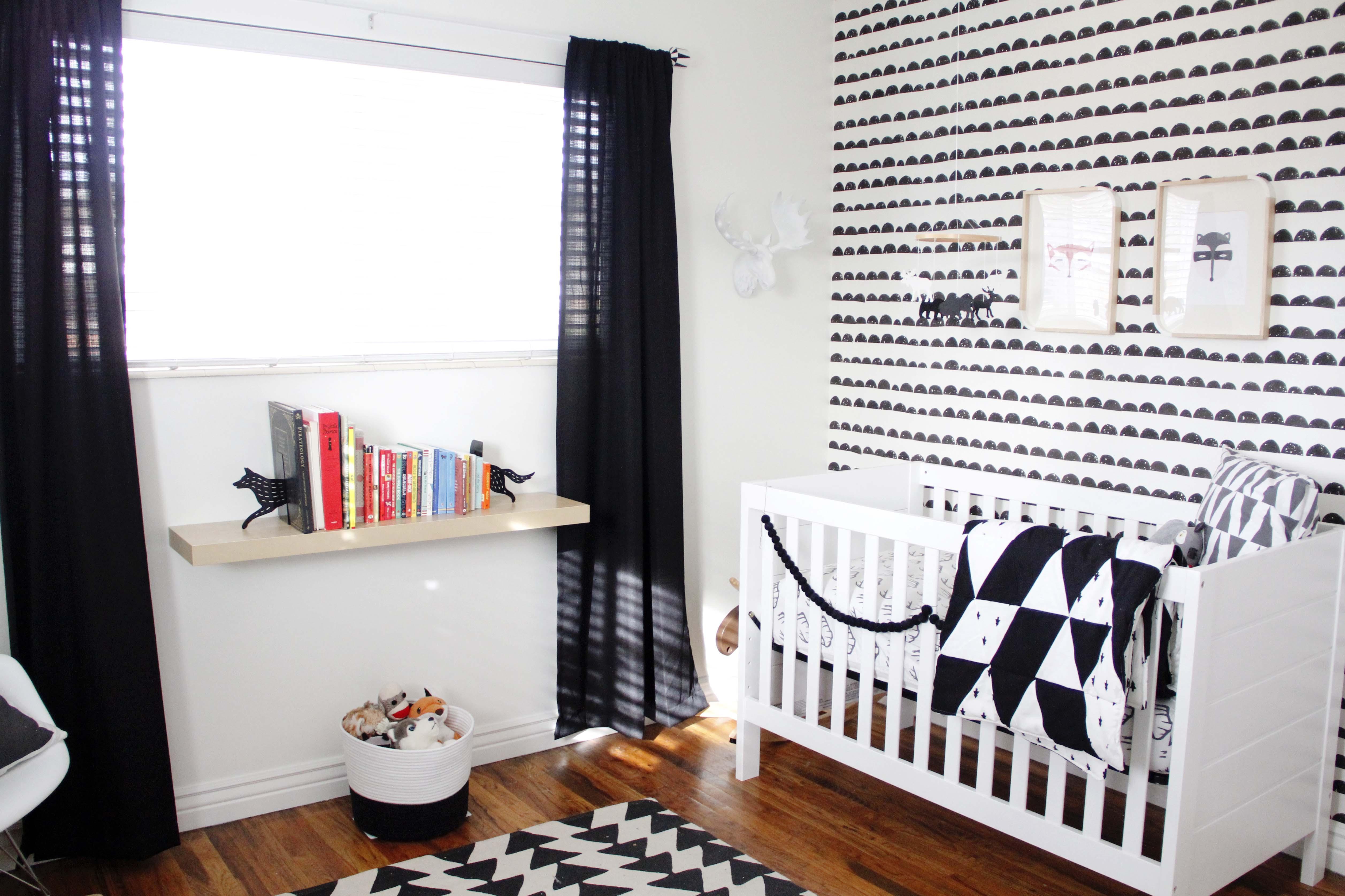 Black and White Woodland Nursery