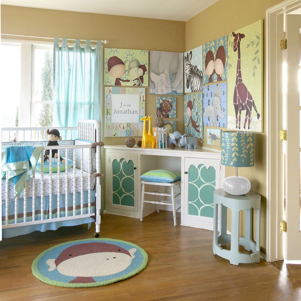 Jungle themed nursery project nursery for Baby s room decoration ideas