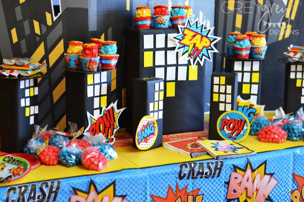 Super Hero Birthday Party Decor - Project Nursery