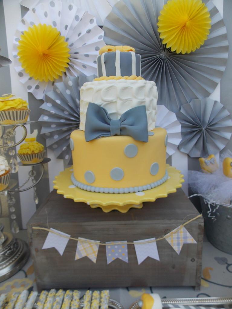 Ties or Tutus Gender Reveal Cake - Project Nursery