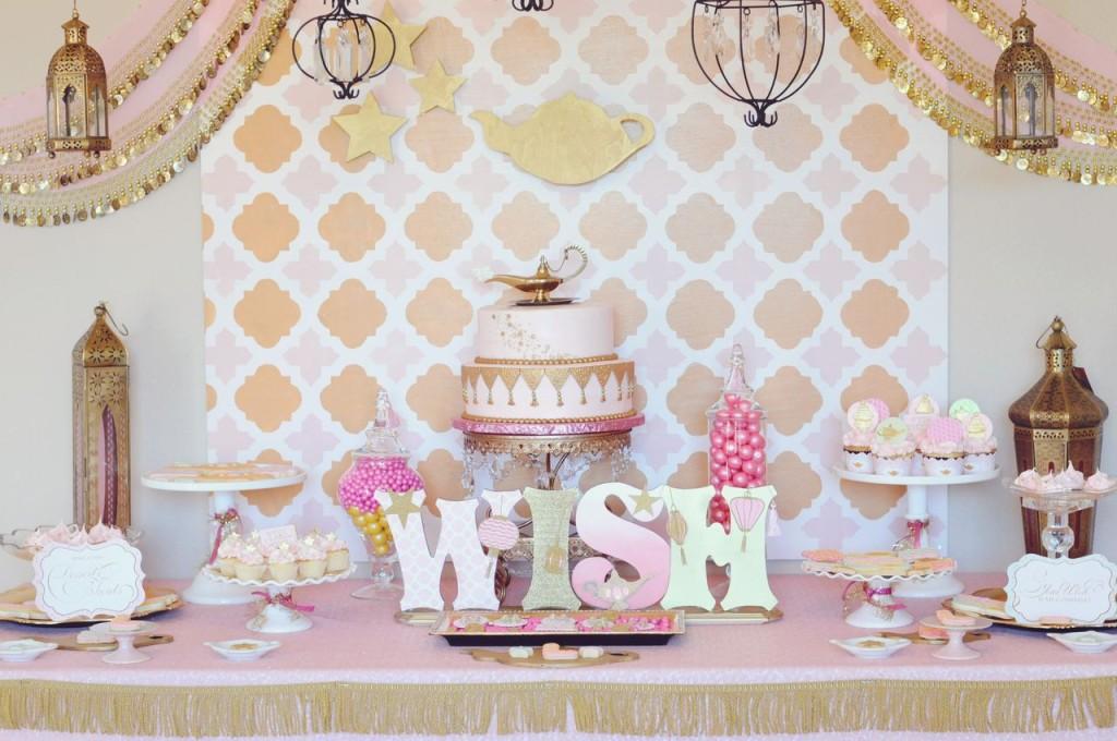 Genie: Make a WISH Birthday Party Dessert Table
