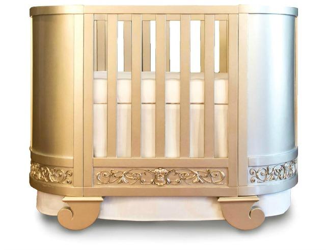 Bratt Decor Chelsea Darling Crib Antique Silver