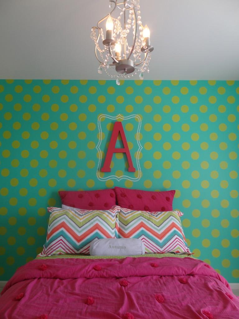 Polka Dot Accent Bedroom Wall