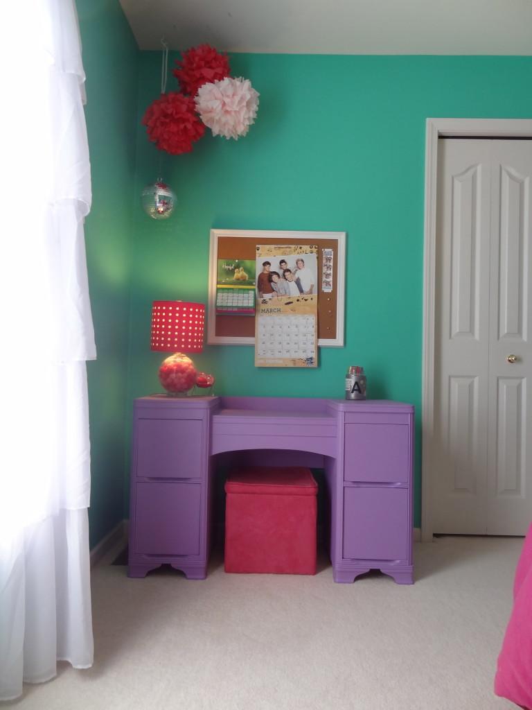 Painted Lavender Desk