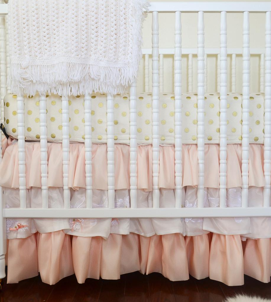 Ombre Ruffle Crib Skirt