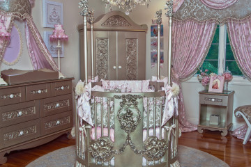Glamorous Pink and Silver Nursery