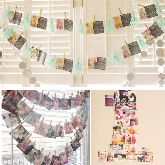 First Birthday Photo Display - Project Nursery