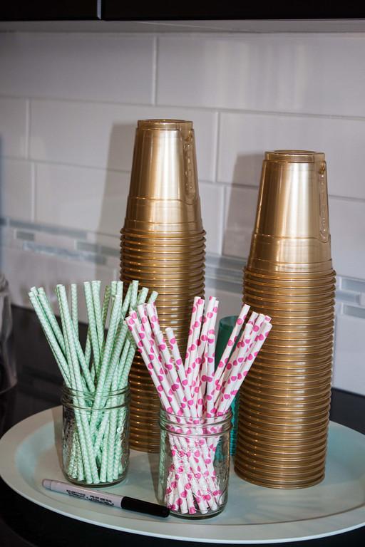 Pink and Aqua Straws