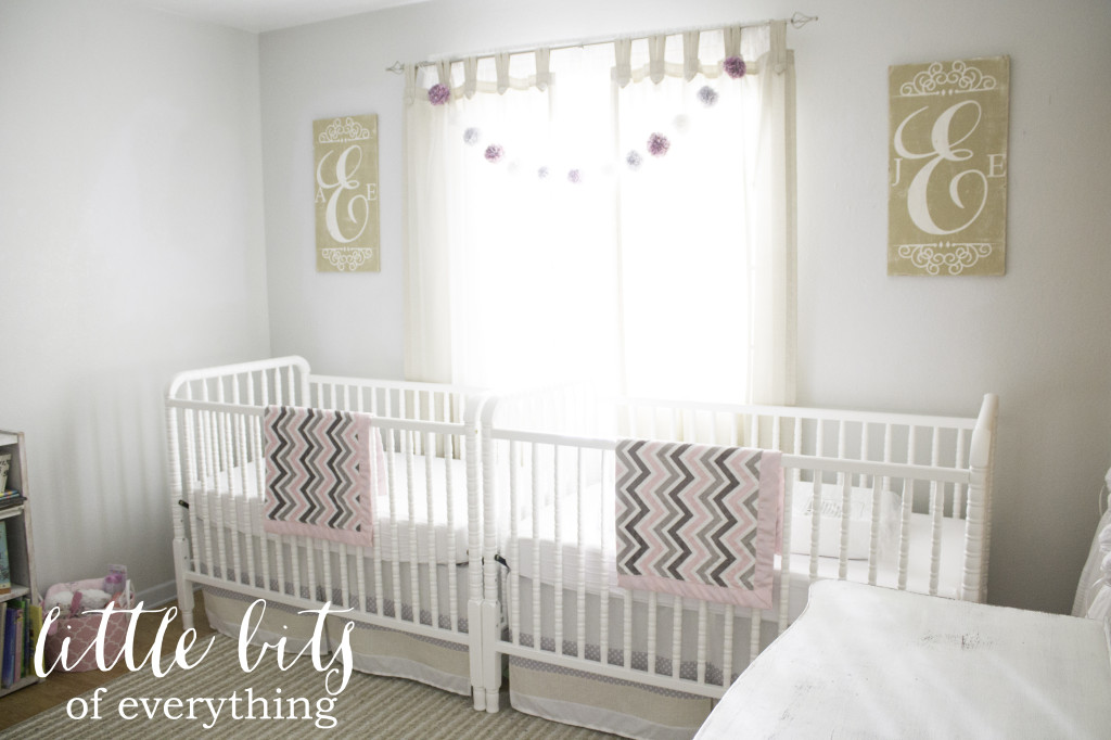Airy Twin Girls Nursery