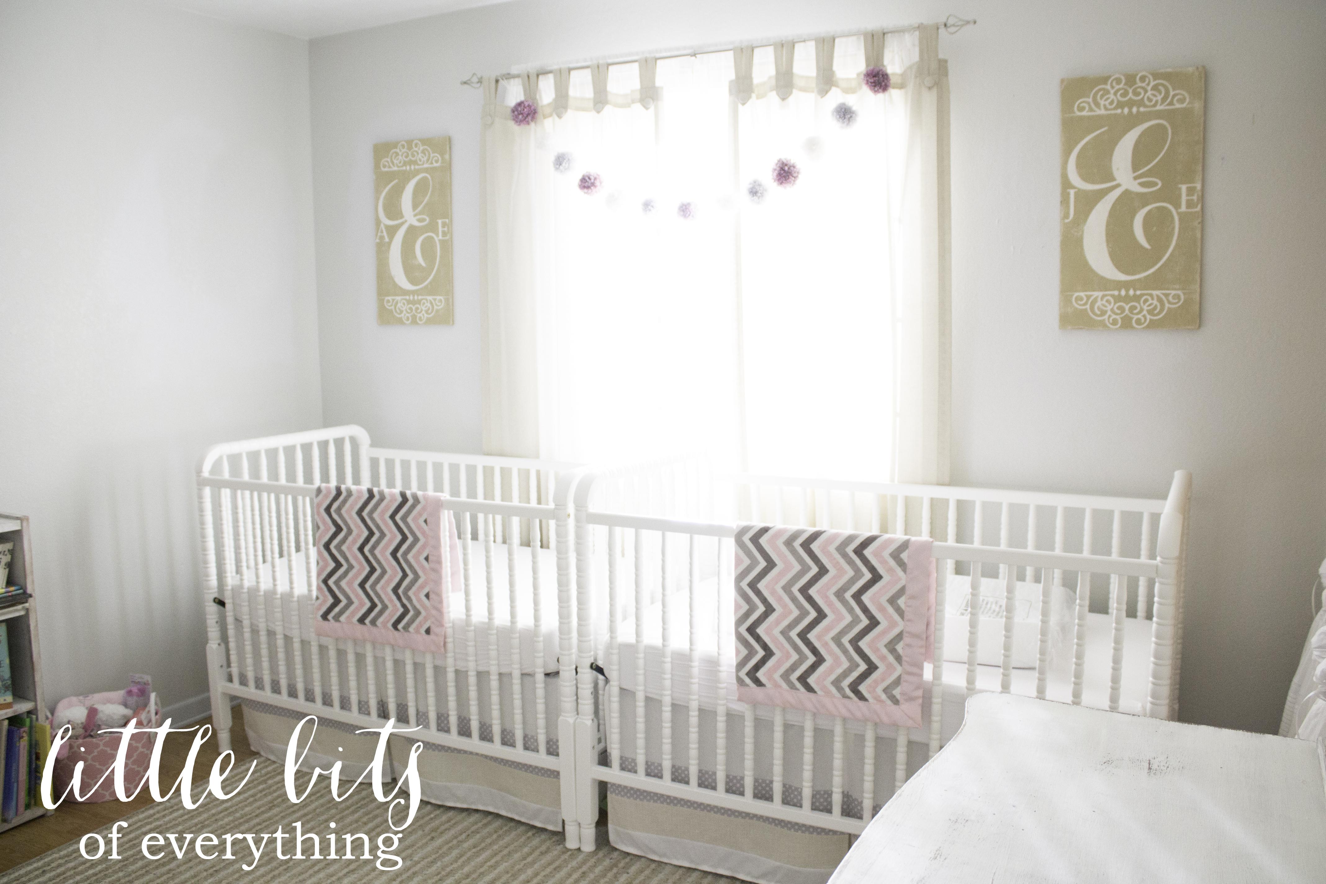 Airy Twin Girls Nursery
