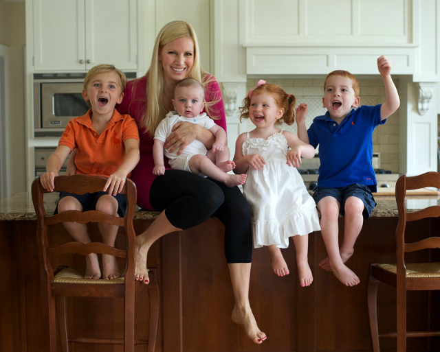 Liza Huber and Children