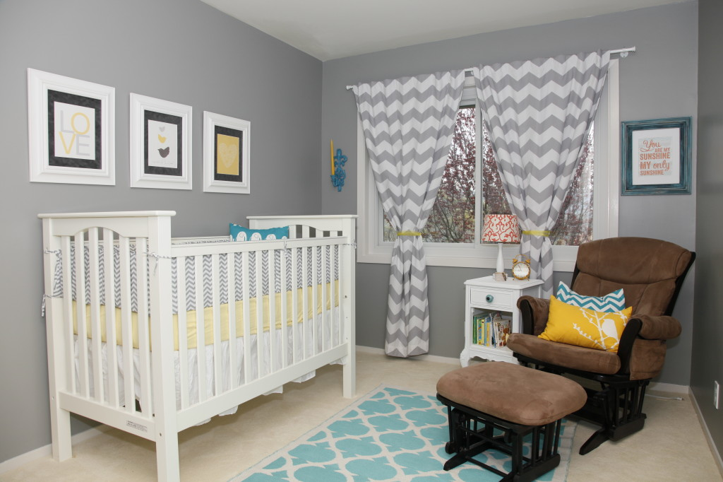 Grey and Yellow Gender Neutral Nursery