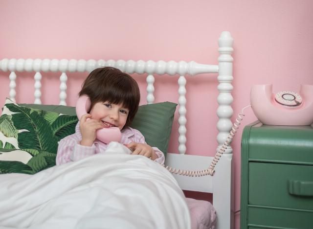 Pink and Green Big Girl Room