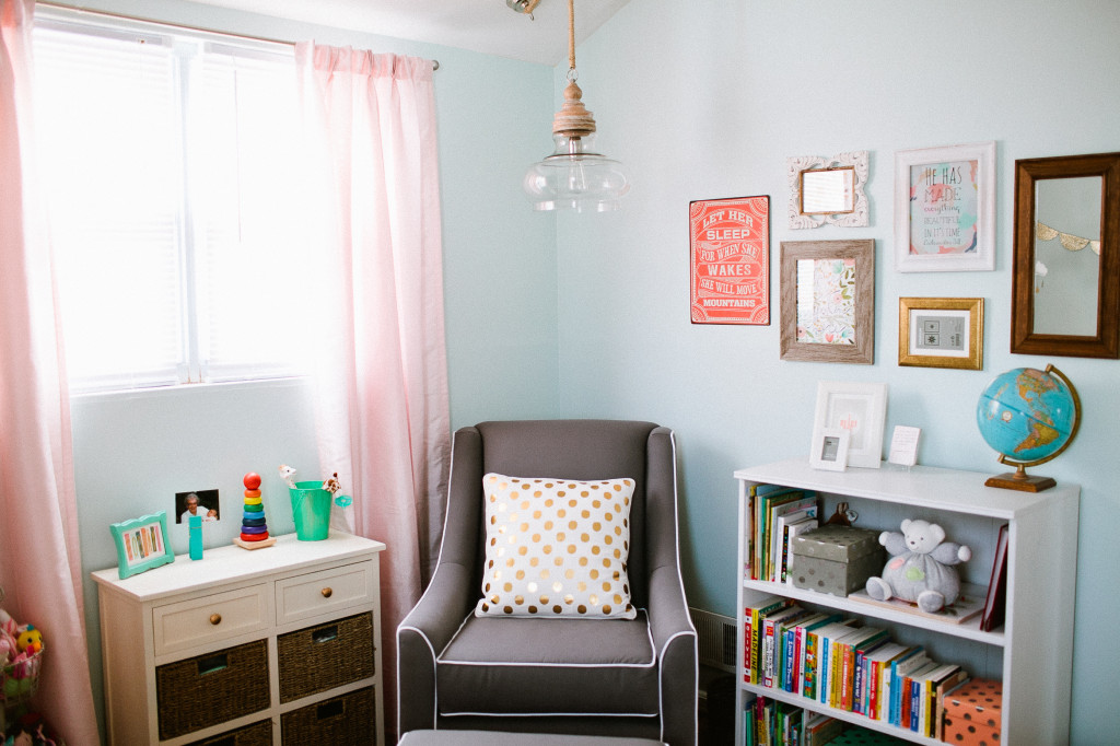 Pink and Turquoise Nursery with Vintage Accents - Project Nursery