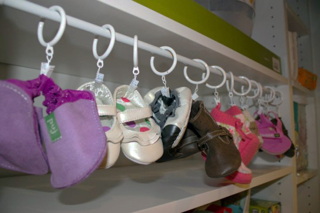 Baby Shoe Organization - Project Nursery