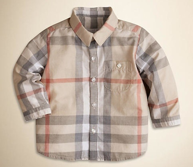 Burberry Plaid Baby Shirt