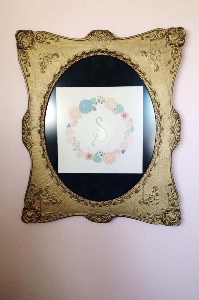 """Framed Letter """"S"""""""