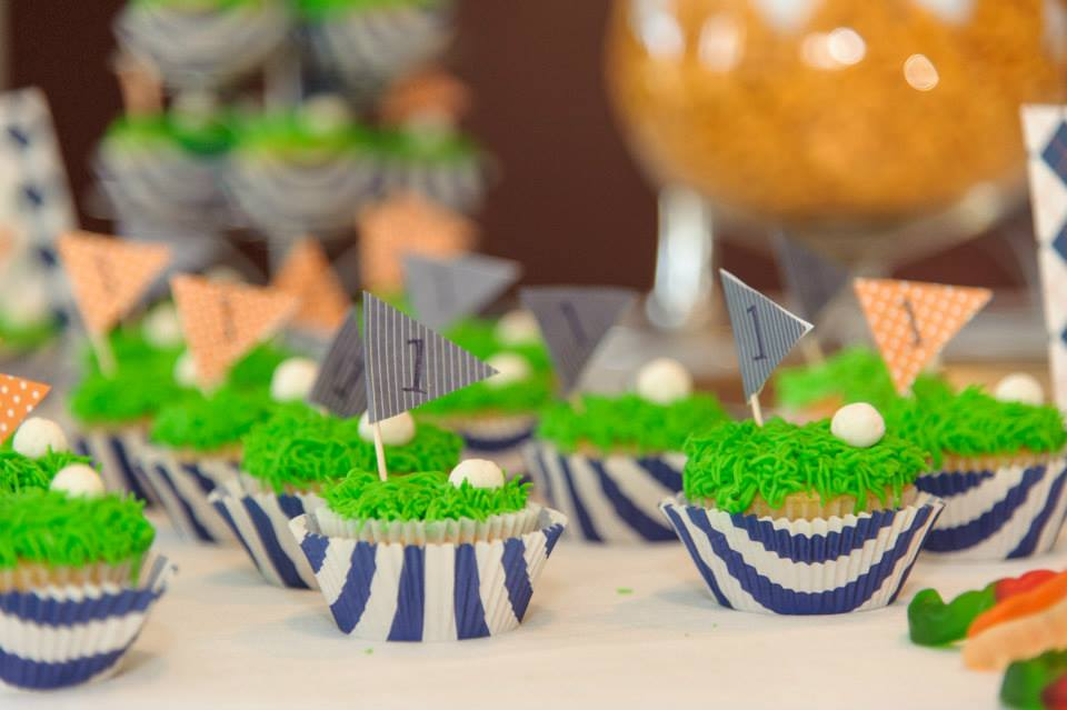 Putting Green Cupcakes