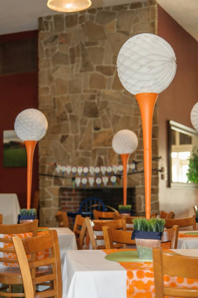 Golf Tee Centerpieces