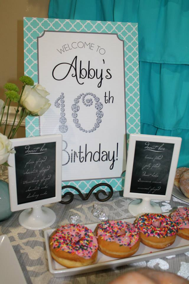 Abby S 10th Birthday Party Double Digits And Diamonds