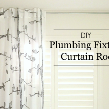 DIY Plumbing Fixture Curtain Rod - Project Nursery