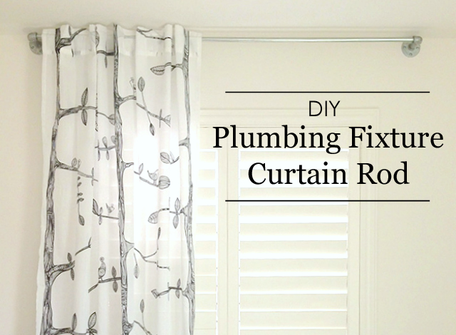 DIY Plumbing Fixture Curtain Rod