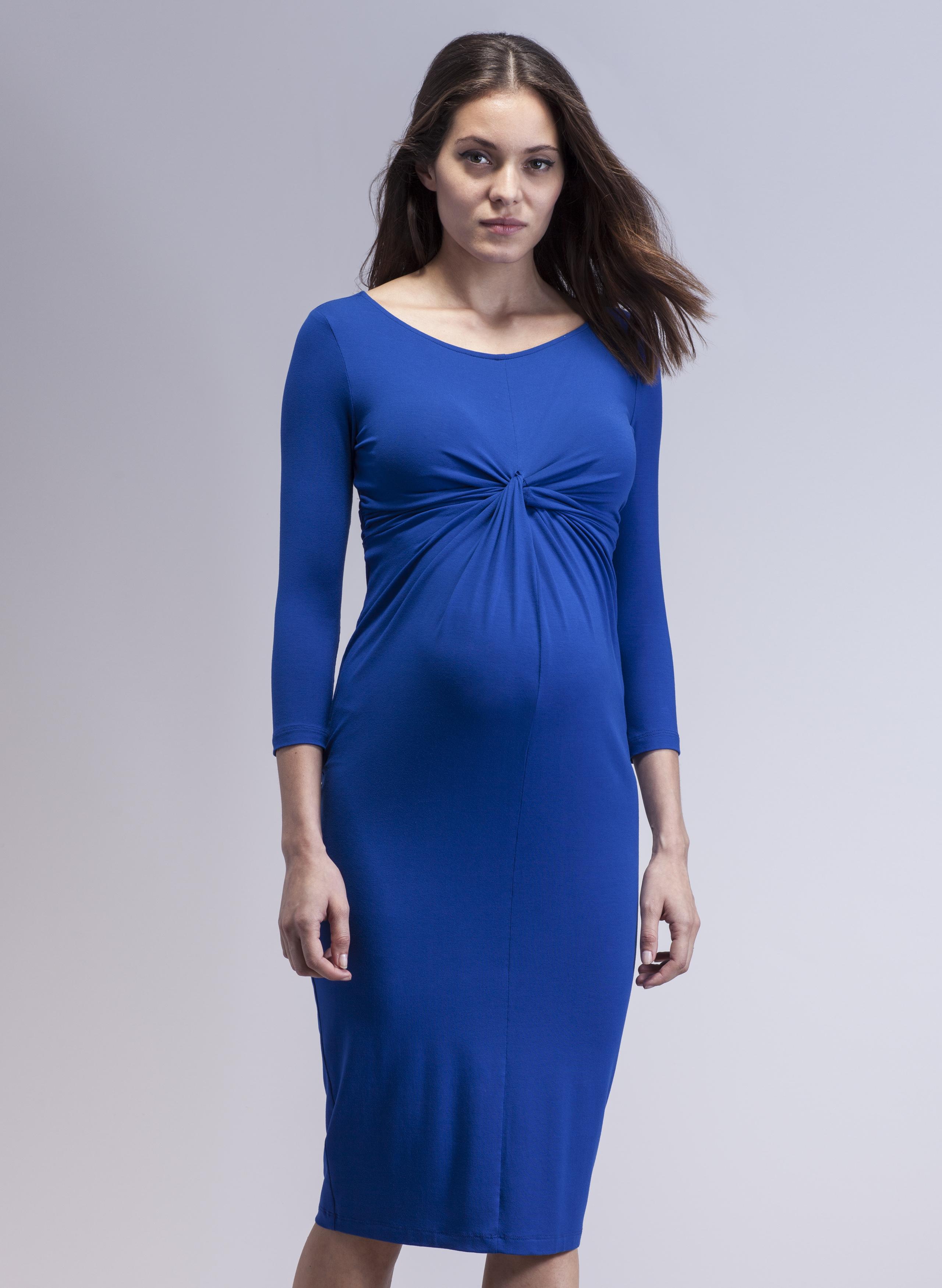 Cobalt Blue Maternity Dress from Isabella Oliver