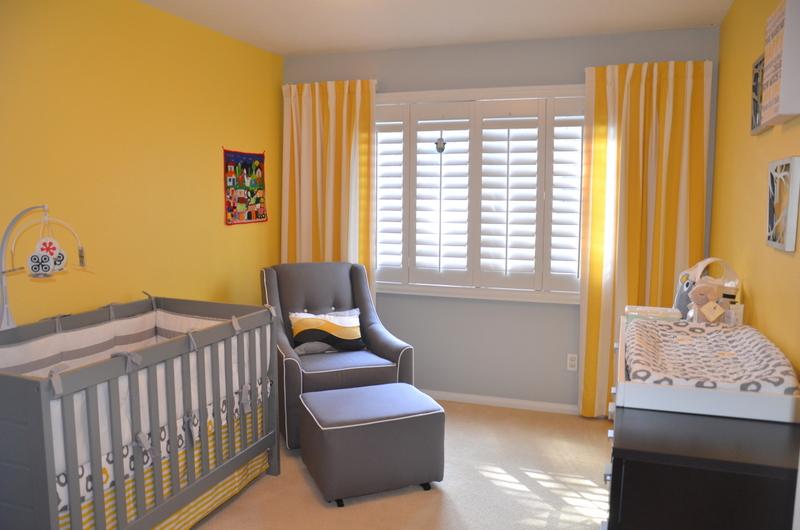 Yellow and Gray Modern Nursery