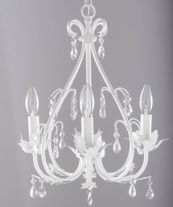 White Nursery Chandelier